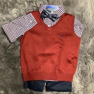 Andy & Evan   Boy's Sweater Vest Set   4 Piece